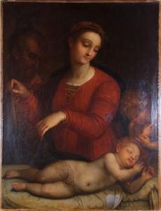 Madonna del velo dipinto XVI VII secolo
