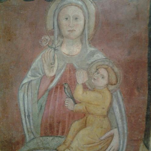 vergine maria affresco al convento in parma
