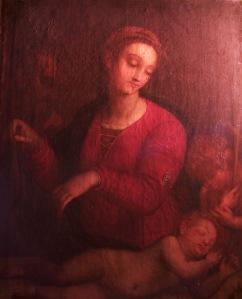 Madonna del velo dipinto LUCE RADENTE