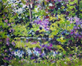 giardino_viola_acrilico_su_carta_24,5x30cm