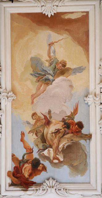 Giambattista Tiepolo, La cacciata degli angeli ribelli 1726, Udine, Palazzo Arcivescovile.