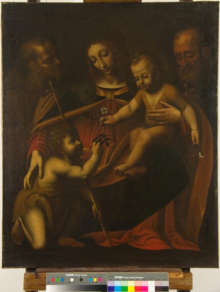 sacra famiglia con san giovannino e santo AVD@ (1)