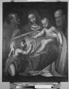 Sacra Famiglia con Giovannino e santi