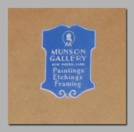 Etichetta della Galleria Munson