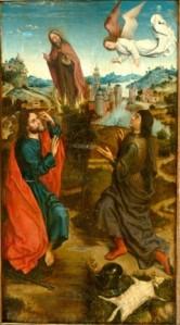 Mosè e il roveto ardente, Gedeone e il vello, Albrecht Bouts, 1460-1549 ca.