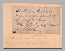 Un etichetta del Museo Peale